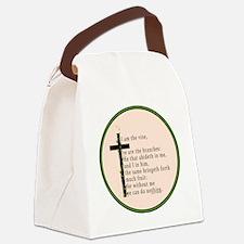 John 15 5 King James Bible Canvas Lunch Bag