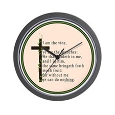 John 15 5 King James Bible Wall Clock