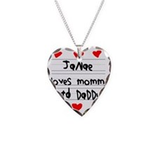 Janae Loves Mommy and Daddy Necklace
