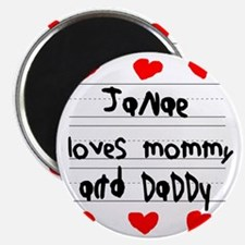 Janae Loves Mommy and Daddy Magnet