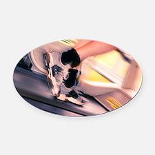 Running machine Oval Car Magnet