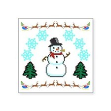 """Ugly Holiday Sweater Funny Square Sticker 3"""" x 3"""""""