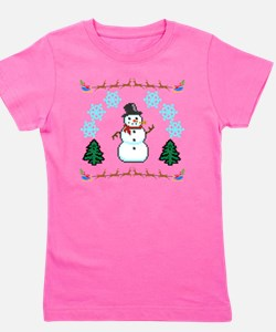 Ugly Holiday Sweater Funny Girl's Tee