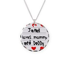 Janell Loves Mommy and Daddy Necklace