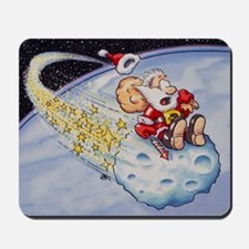 Santa Claus on asteroid Mousepad