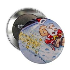 "Santa Claus on asteroid 2.25"" Button"