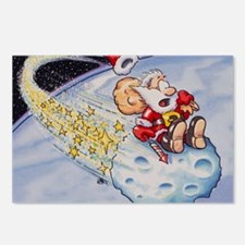Santa Claus on asteroid Postcards (Package of 8)