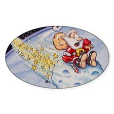 Santa Claus on asteroid Decal