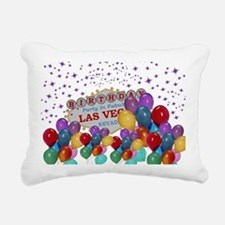 Floating Balloons Las Ve Rectangular Canvas Pillow