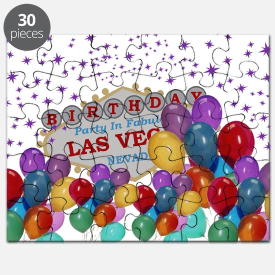 Floating Balloons Las Vegas Birthday Party Puzzle