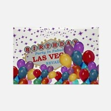 Floating Balloons Las Vegas Birth Rectangle Magnet