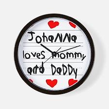 Johanna Loves Mommy and Daddy Wall Clock
