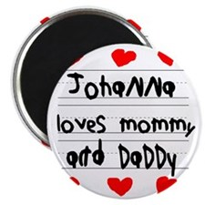 Johanna Loves Mommy and Daddy Magnet