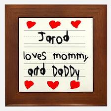 Jarod Loves Mommy and Daddy Framed Tile