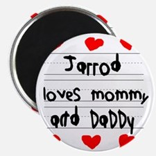 Jarrod Loves Mommy and Daddy Magnet