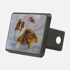 Sheltie with Cardinal Hitch Cover
