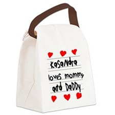 Kasandra Loves Mommy and Daddy Canvas Lunch Bag