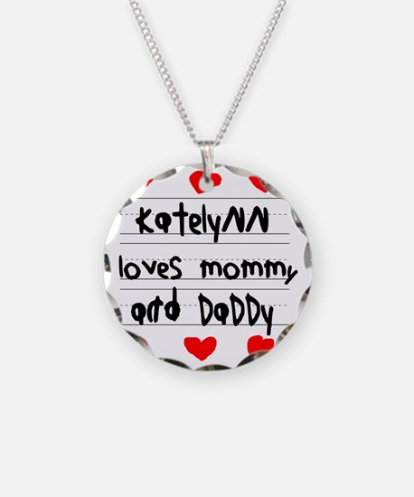 Katelynn Loves Mommy and Dad Necklace