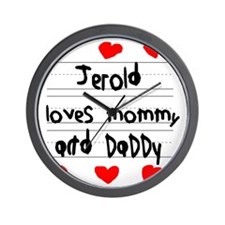 Jerold Loves Mommy and Daddy Wall Clock