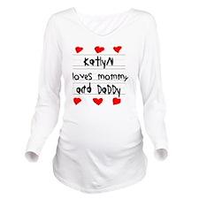 Katlyn Loves Mommy a Long Sleeve Maternity T-Shirt
