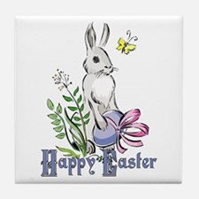 Happy Easter Rabbit Tile Coaster