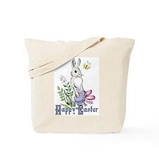 Happy Easter Rabbit Tote Bag