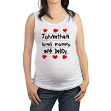 Johnathan Loves Mommy and Daddy Maternity Tank Top
