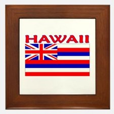 Hawaii Flag (Light) Framed Tile