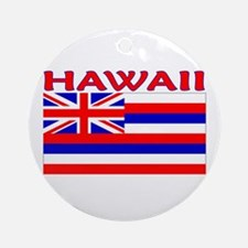 Hawaii Flag (Light) Ornament (Round)