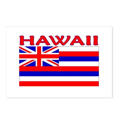 Hawaii Flag (Light) Postcards (Package of 8)