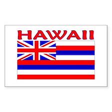 Hawaii Flag (Light) Rectangle Decal