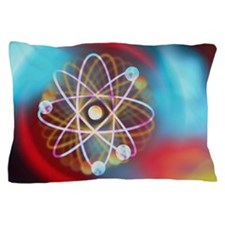 Art representing a beryllium atom Pillow Case