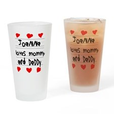 Joanna Loves Mommy and Daddy Drinking Glass