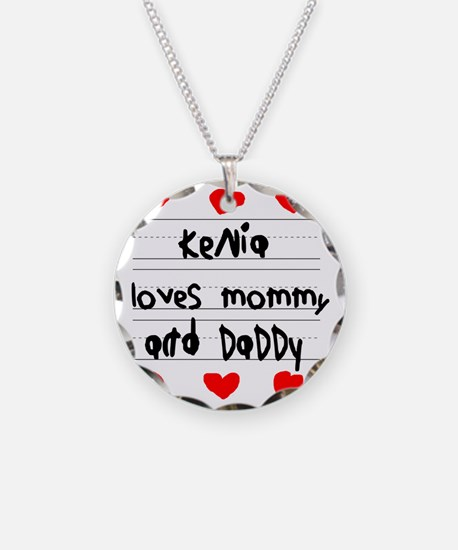 Kenia Loves Mommy and Daddy Necklace