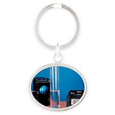 Alkane decolourisation of bromine Oval Keychain