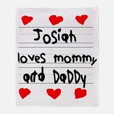 Josiah Loves Mommy and Daddy Throw Blanket