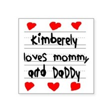 """Kimberely Loves Mommy and D Square Sticker 3"""" x 3"""""""