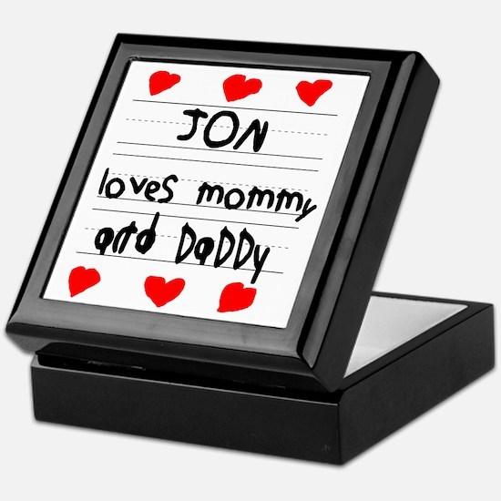 Jon Loves Mommy and Daddy Keepsake Box