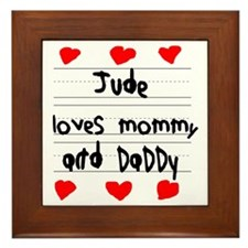 Jude Loves Mommy and Daddy Framed Tile