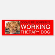 CUSTOM Therapy Dog, Bumper Bumper Bumper Sticker