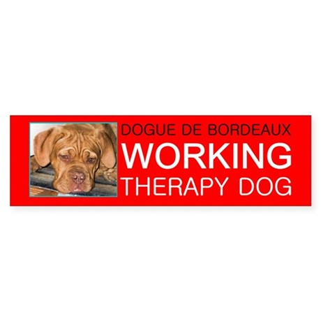 CUSTOM Therapy Dog, Bumper Sticker