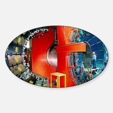 CDF particle detector, Fermilab Sticker (Oval)