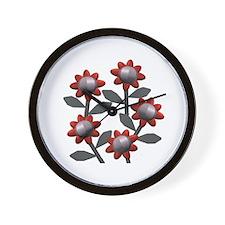 Modern Flowers Wall Clock