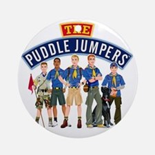 01Puddle Jumper Shirt Round Ornament