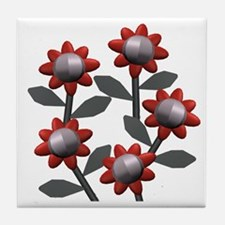 Modern Flowers Tile Coaster