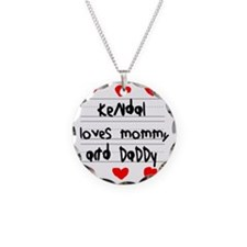 Kendal Loves Mommy and Daddy Necklace