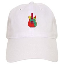 """Neon Red"" Guitar Baseball Baseball Cap"