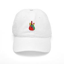 """""""Neon Red"""" Guitar Baseball Cap"""