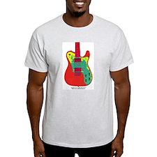 """Neon Red"" Guitar T-Shirt"