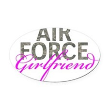 Air Force Girlfriend Oval Car Magnet